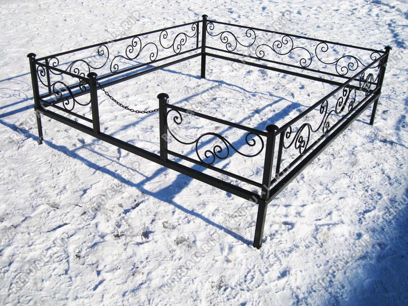 Кованая ограда на могилу Волна