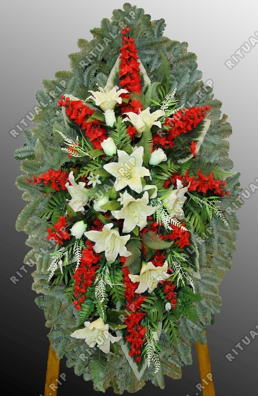 Траурный комбинированный венок на похороны №7