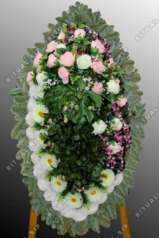 Траурный комбинированный венок на похороны №9