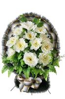 Ритуальная корзина из искусственных цветов №10