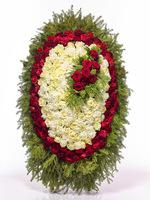 Траурный Венок из живых цветов №H1