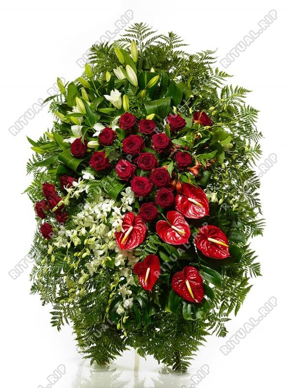 Венок из живых цветов №Н10