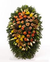 Венок из живых цветов №Н14