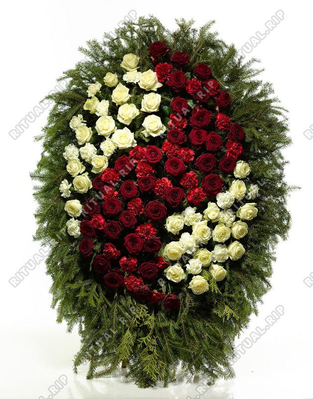 Венок из живых цветов №Н15