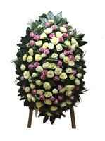 Венок из живых цветов №001